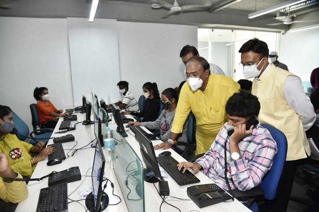 Arvind limbavali at coronavirus call center in bangalore 2