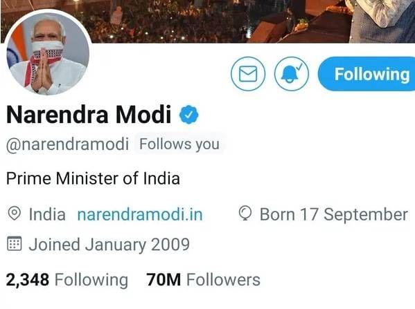 Modi Twitter Followers